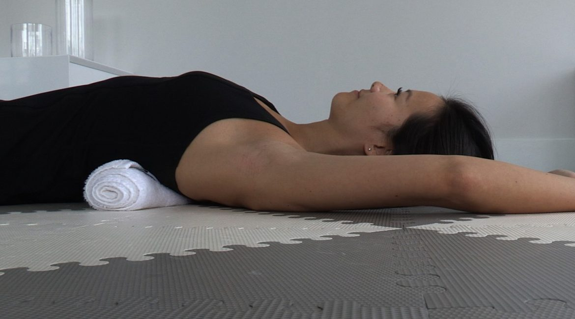 Supine Thoracic Spine Mobilization with Towel